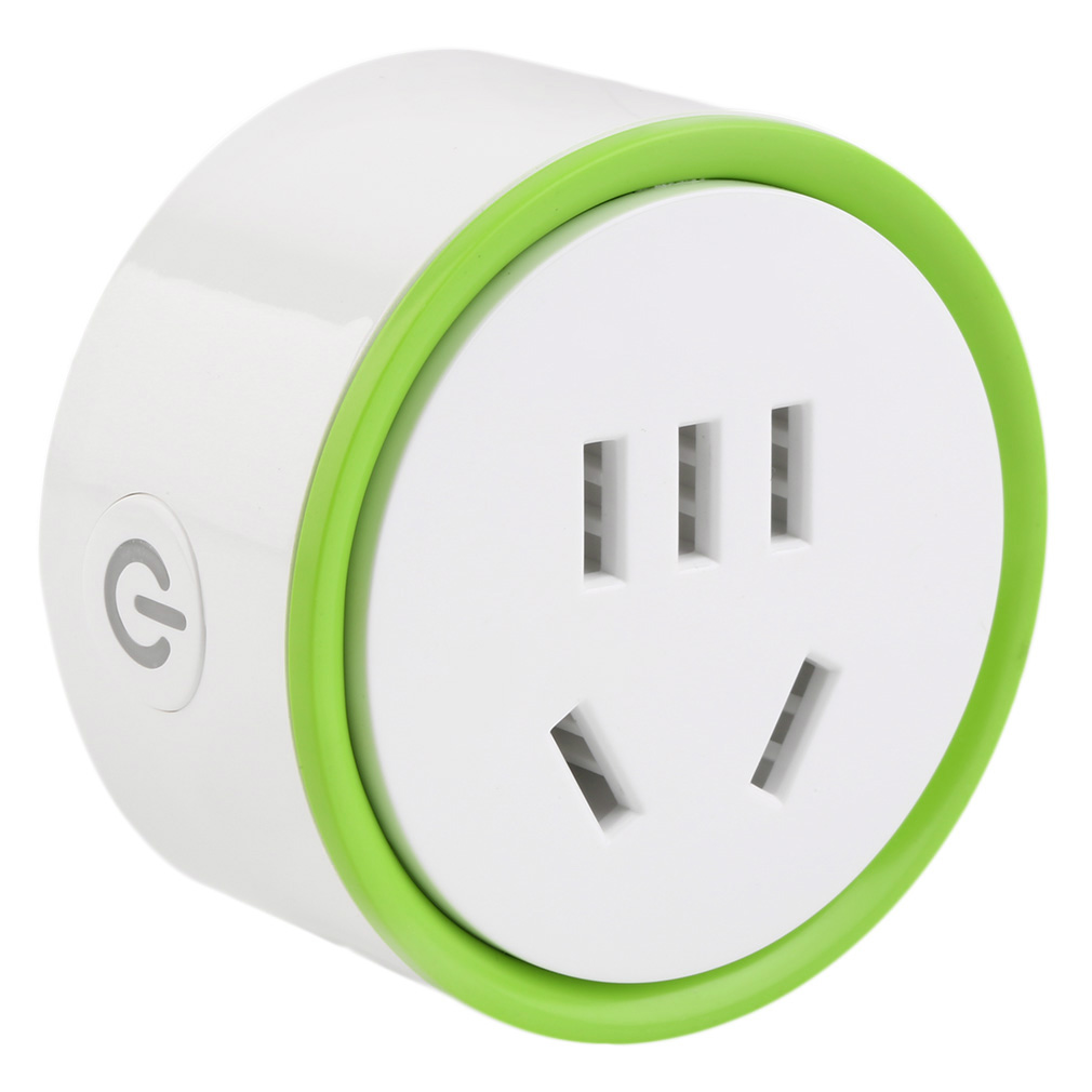 White Mini Smart Wifi Plug Remote Control Socket Power Supply Home Safety