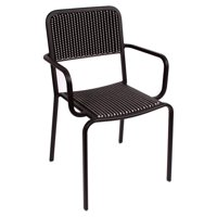 BFM Seating Rio Aluminum Stackable Patio Dining Chair