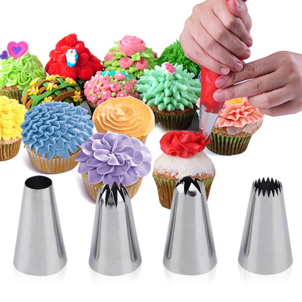 52 Pcs Sugar Fondant Dessert Cake Icing Piping Nozzles Tips Cake Decoration by konxa
