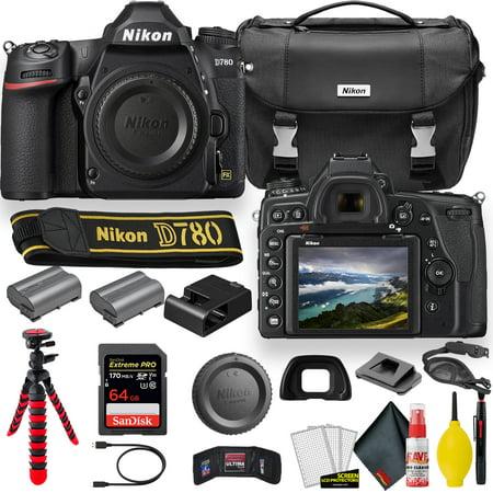 Nikon D780 24.5 MP Full Frame DSLR Camera (1618) - Accessory Bundle