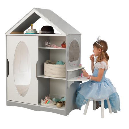 Kidkraft Wooden Dress Up Armoire And Vanity With Costume