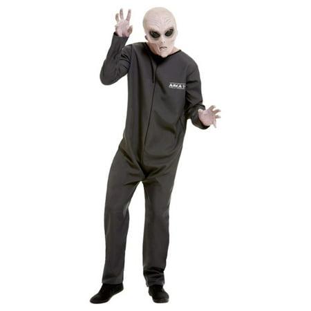 Area 51 Halloween (Gray Area 51 Hazmat Suit Men Adult Halloween Costume -)