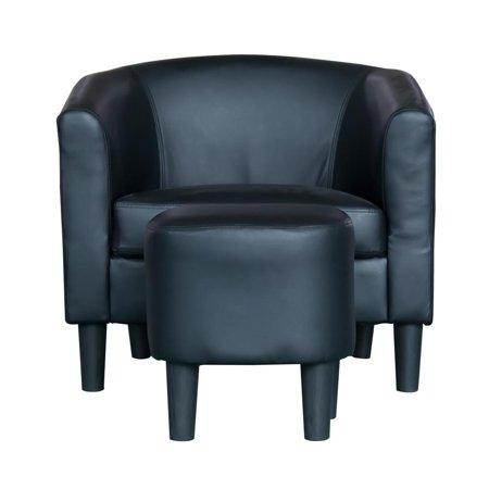 Incadozo Barrel Style Accent Chair With Ottoman Walmart Com