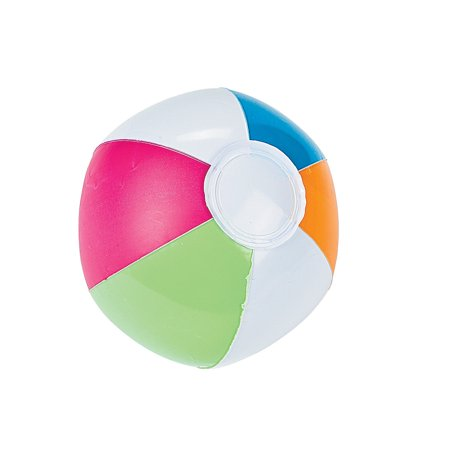 IN-12/4155 Inflatable Mini Spring Brights Beach Balls Per - Mini Inflatable Balls