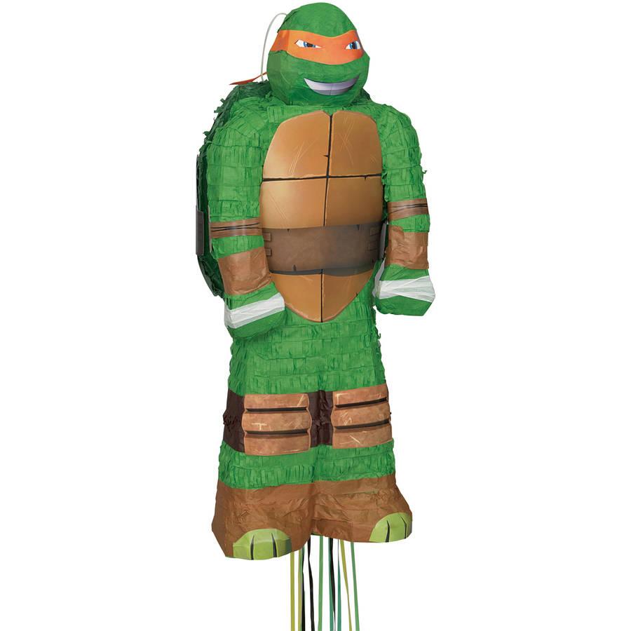 Teenage Mutant Ninja Turtles Pinata, Pull String, 25 x 12 in, Michelangelo, 1ct