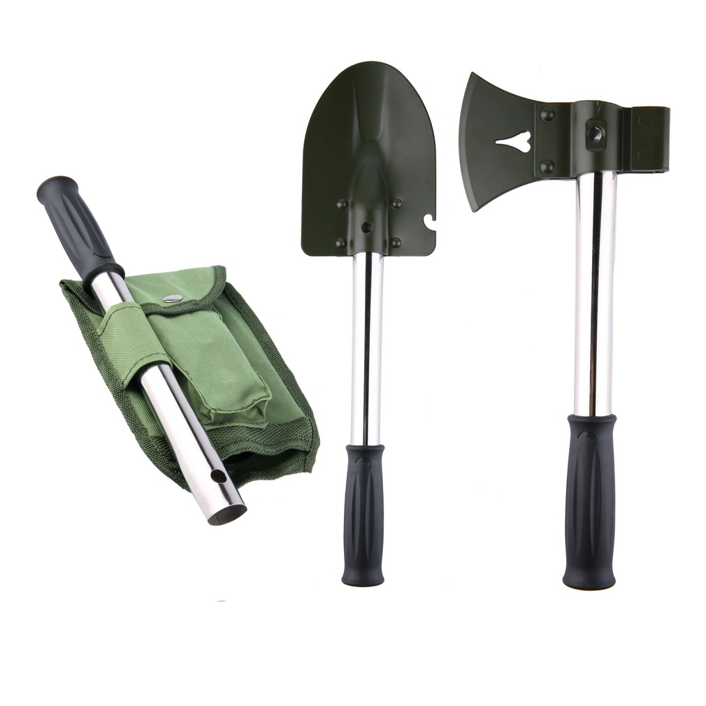 2 in 1 Survival Shovel Axe Folding Camping Tool Wilderness Emergency Outdoor by