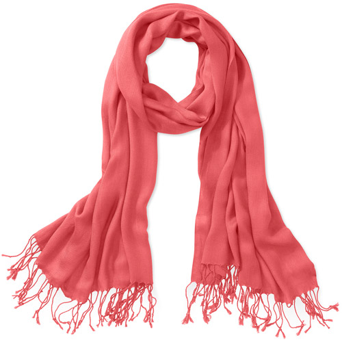 Faded Glory Solid Scarf Coral