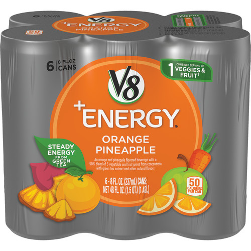 V8 +Energy Orange Pineapple, 8 oz., 6 pack