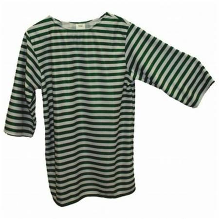 Alexander Costume 22-228-GR -Striped Shirt - Green, Large