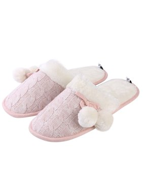 e6b290c51109 Product Image Aerusi Mady Pom Knit Women s Slip-on Indoor Home Slippers