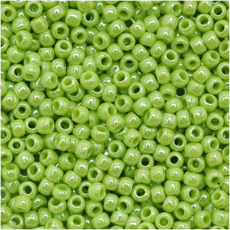Toho Round Seed Beads 11/0 #131 'Opaque Lustered Sour Apple' 8 Gram Tube - Apple Beads