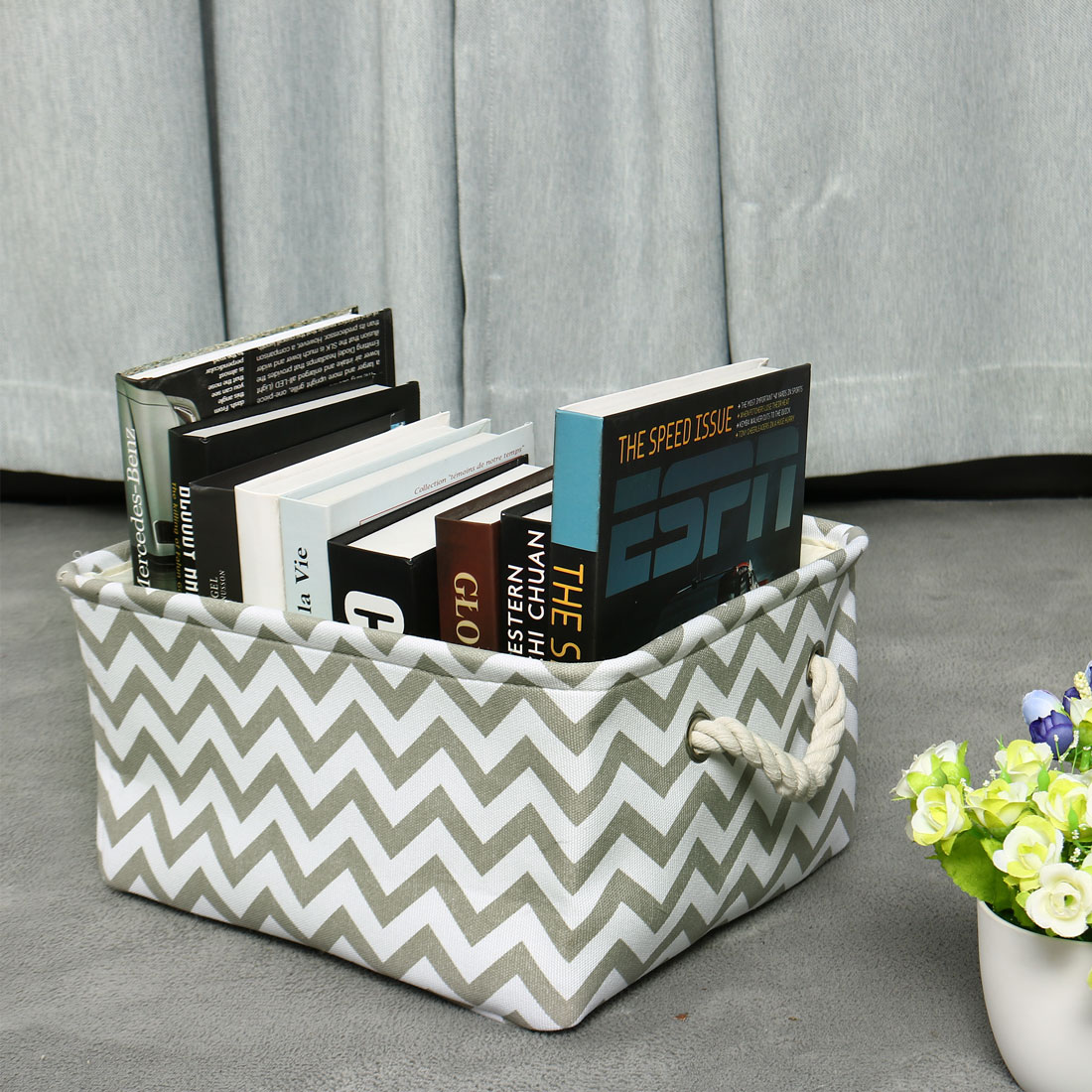 Collapsible Fabric Storage Basket