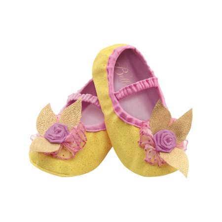 Belle Beauty And The Beast Disney Slippers Toddlers Costume Accessory Up To Size 6
