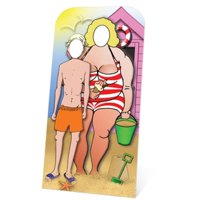 Star Cutouts SC135 Wedding Couple Stand-in Cutout - 74 x 1 in.