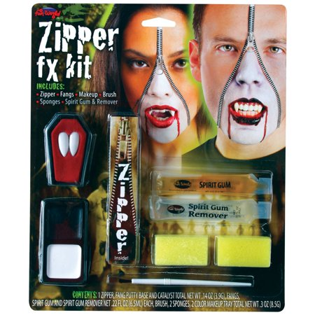 Zipper Halloween Makeup Look (Deluxe FX Zipper Makeup Kits -)