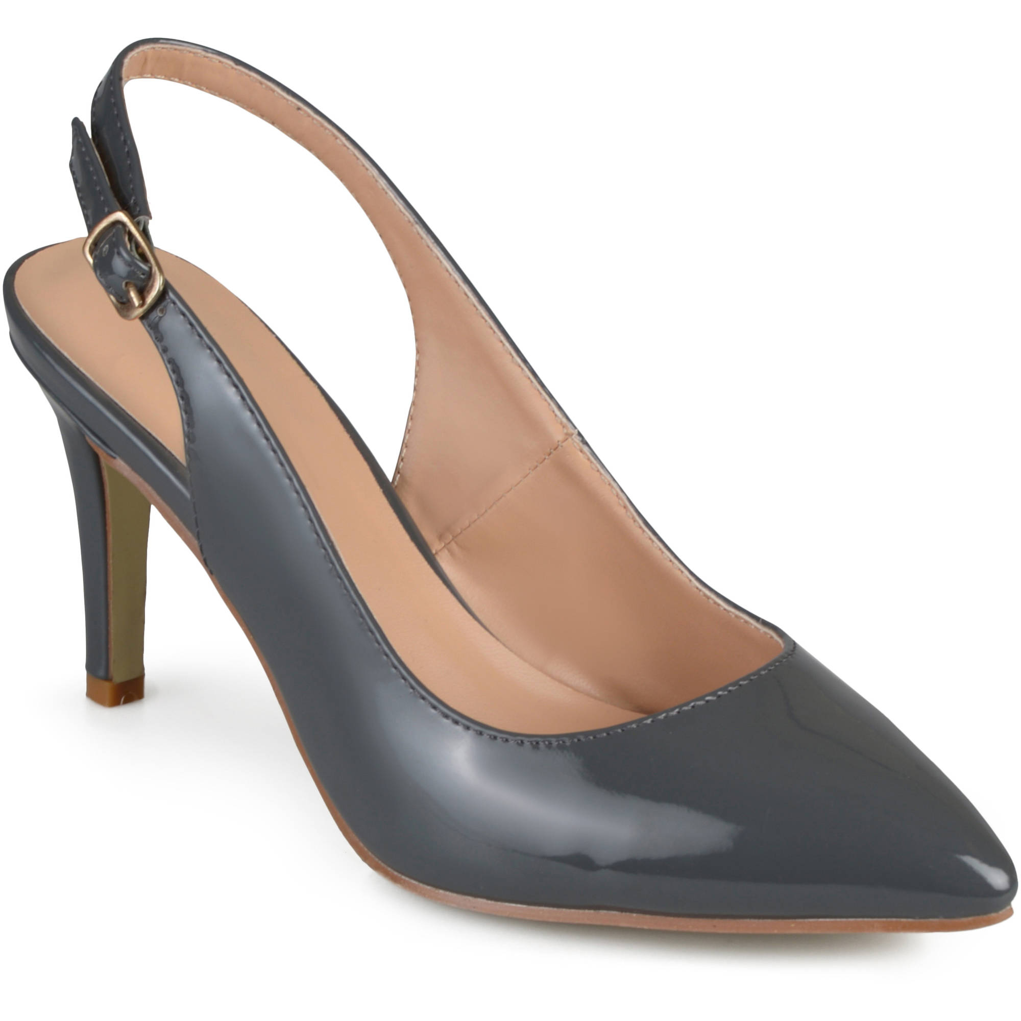 Brinley Co. Women's Slingback Almond Toe Pumps