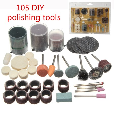 105Pcs 30-45mm Grinding Drill Bits Electric Polishing Engraving For Rotary Tools