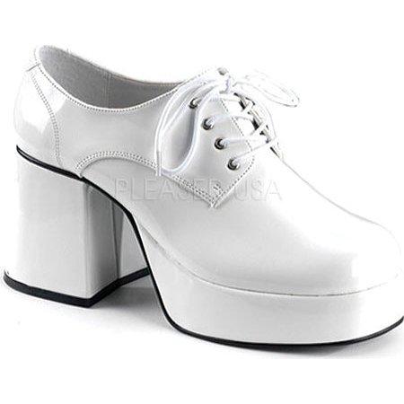 SHOE PLATFORM WHT PAT MEN SM (Mens Platform Shoes)