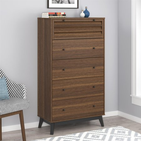 Ameriwood Home Vaughn 5 Drawer Dresser, Multiple Colors