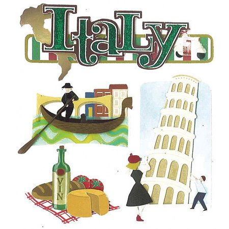 Jolee's Boutique Dimensional Stickers, Italy