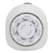 GE/RCA JAS15151W GE Mechanical 1-Outlet 7-Day Polarized Plug-in Timer