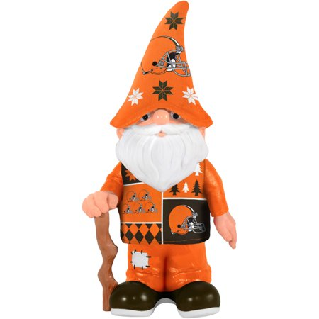 Cleveland Browns Christmas Sweater.Forever Collectibles Nfl Real Ugly Sweater Gnome Cleveland Browns