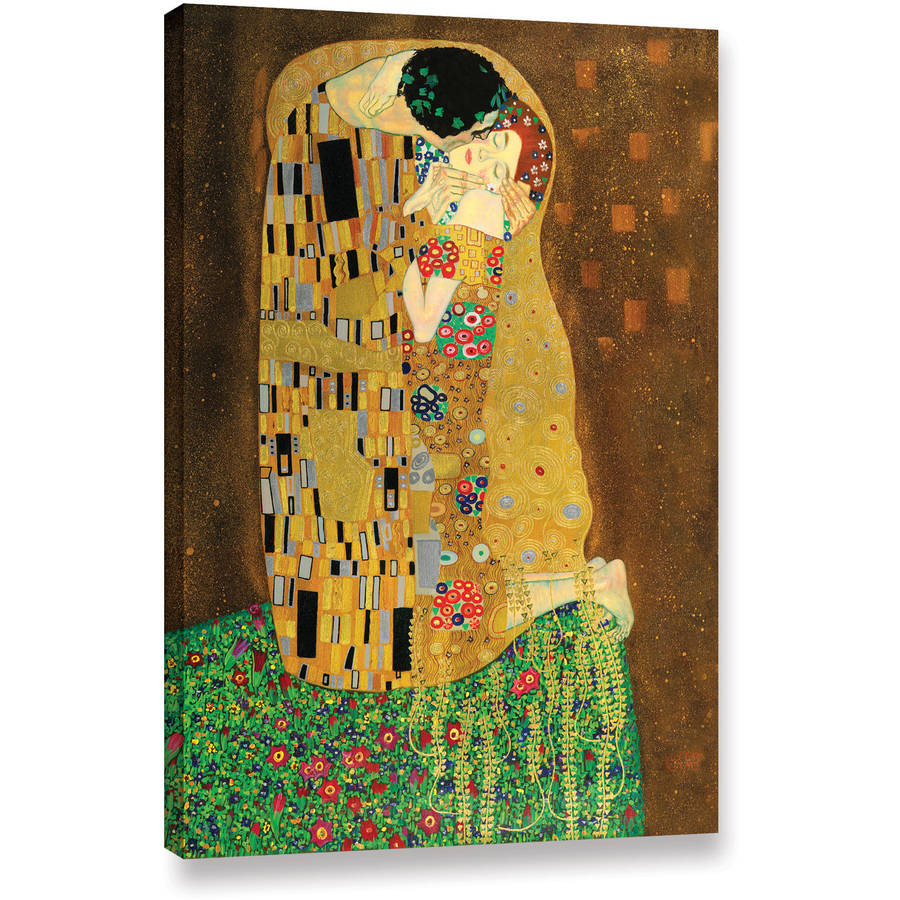 "Gustav Klimt ""The Kiss"" Gallery-Wrapped Canvas"