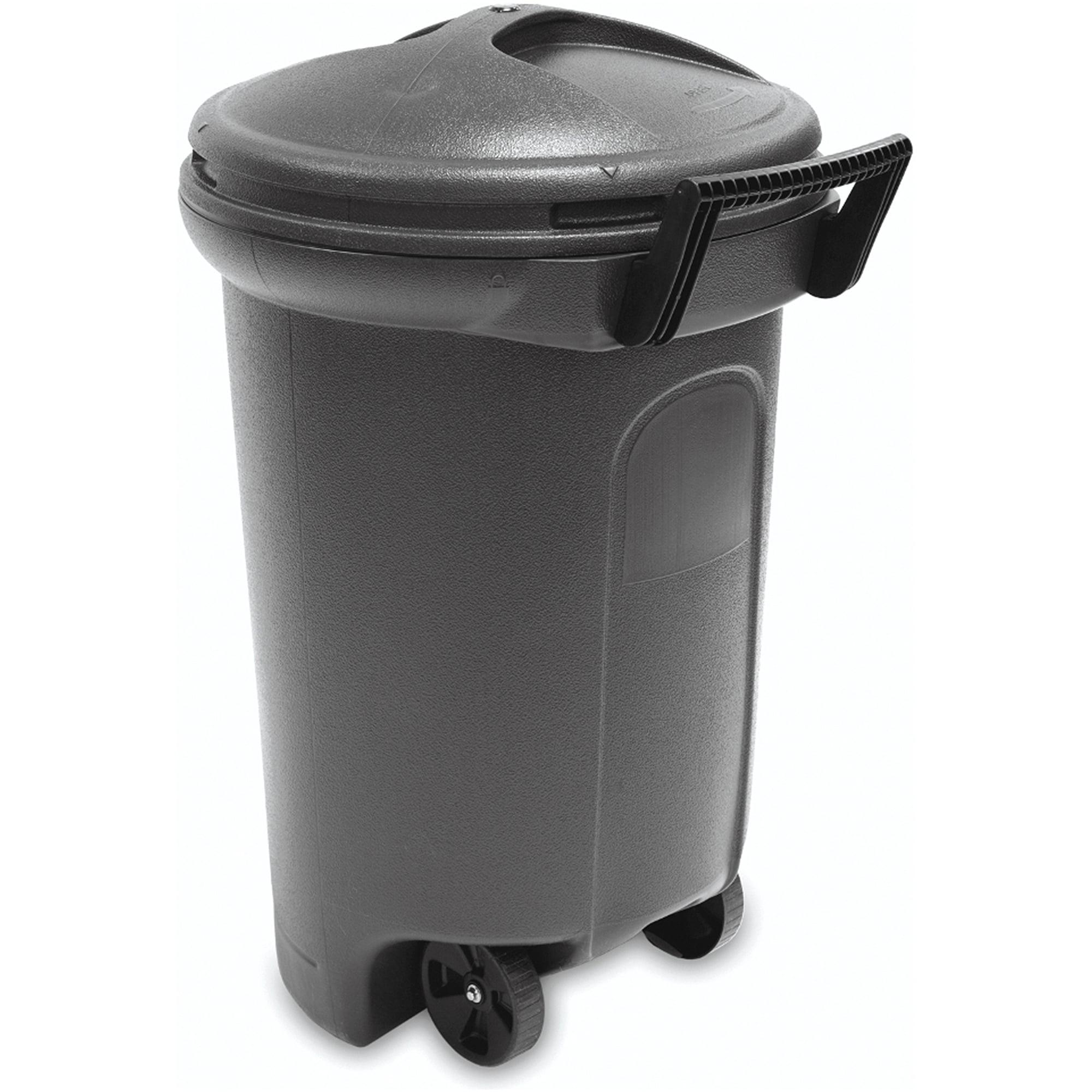 Trashmaster 32 Gallon Trash Can With Wheels Walmart Com