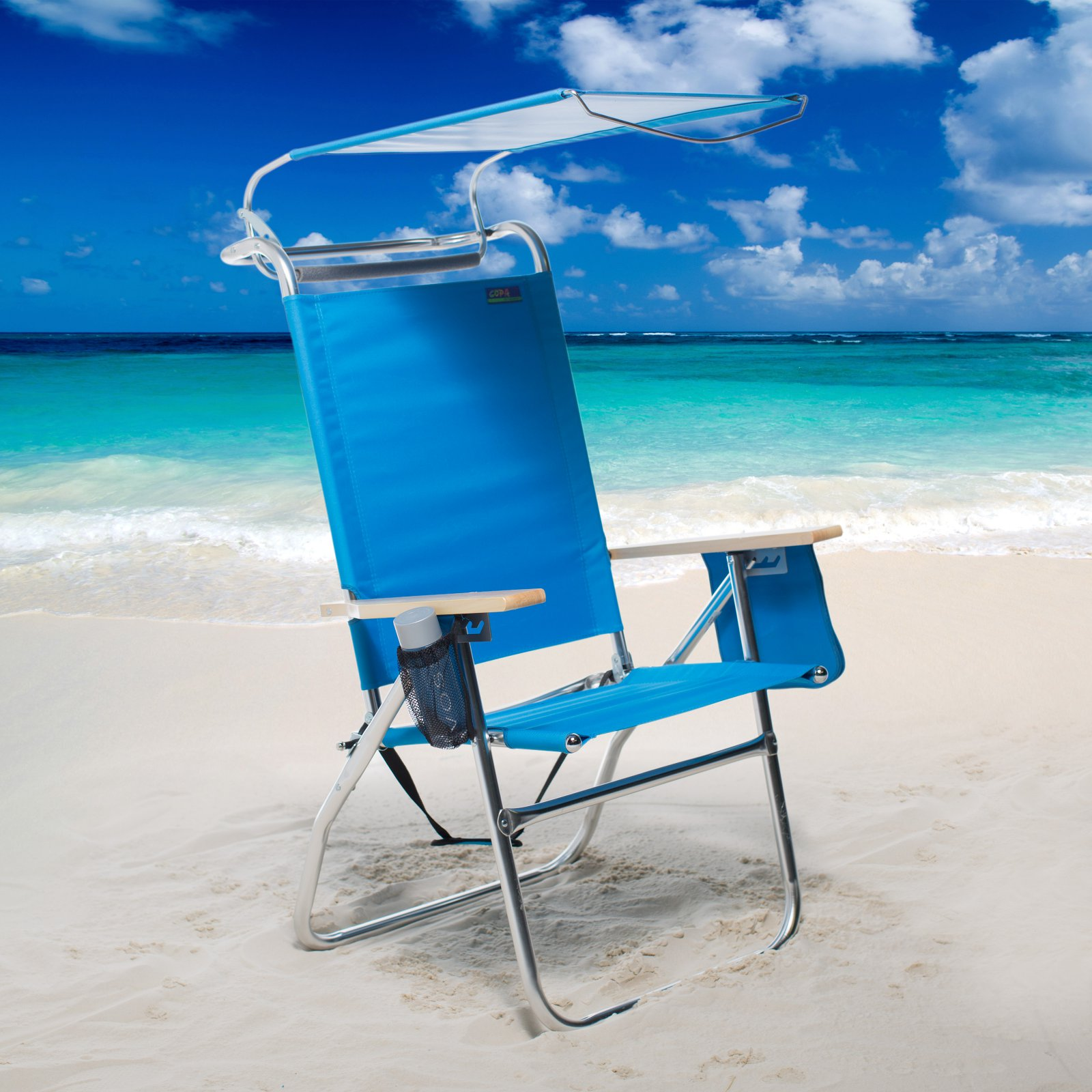 Copa 4 Position Big Tycoon Canopy Beach Chair & Copa 4 Position Big Tycoon Canopy Beach Chair - Walmart.com