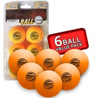 6-Pack Sportly Table Tennis Ping Pong Balls 3-Star 40mm Deals