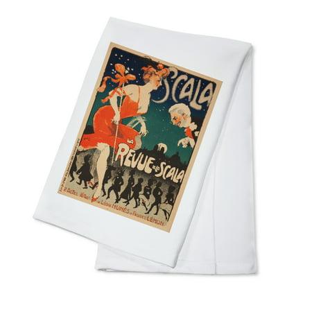 La Scala Handles - Scala - La Revue de la Scala Vintage Poster (artist: Grun) France c. 1905 (100% Cotton Kitchen Towel)