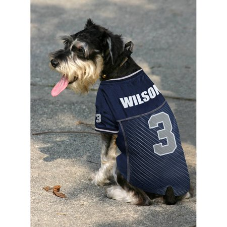 89e7c3a2aa4 NFLPA RUSSELL WILSON DOG JERSEY Seattle Seahawks Team Player Jersey For  Dogs & Cats. 5 Sizes and 6 NFL Teams available. - Walmart.com