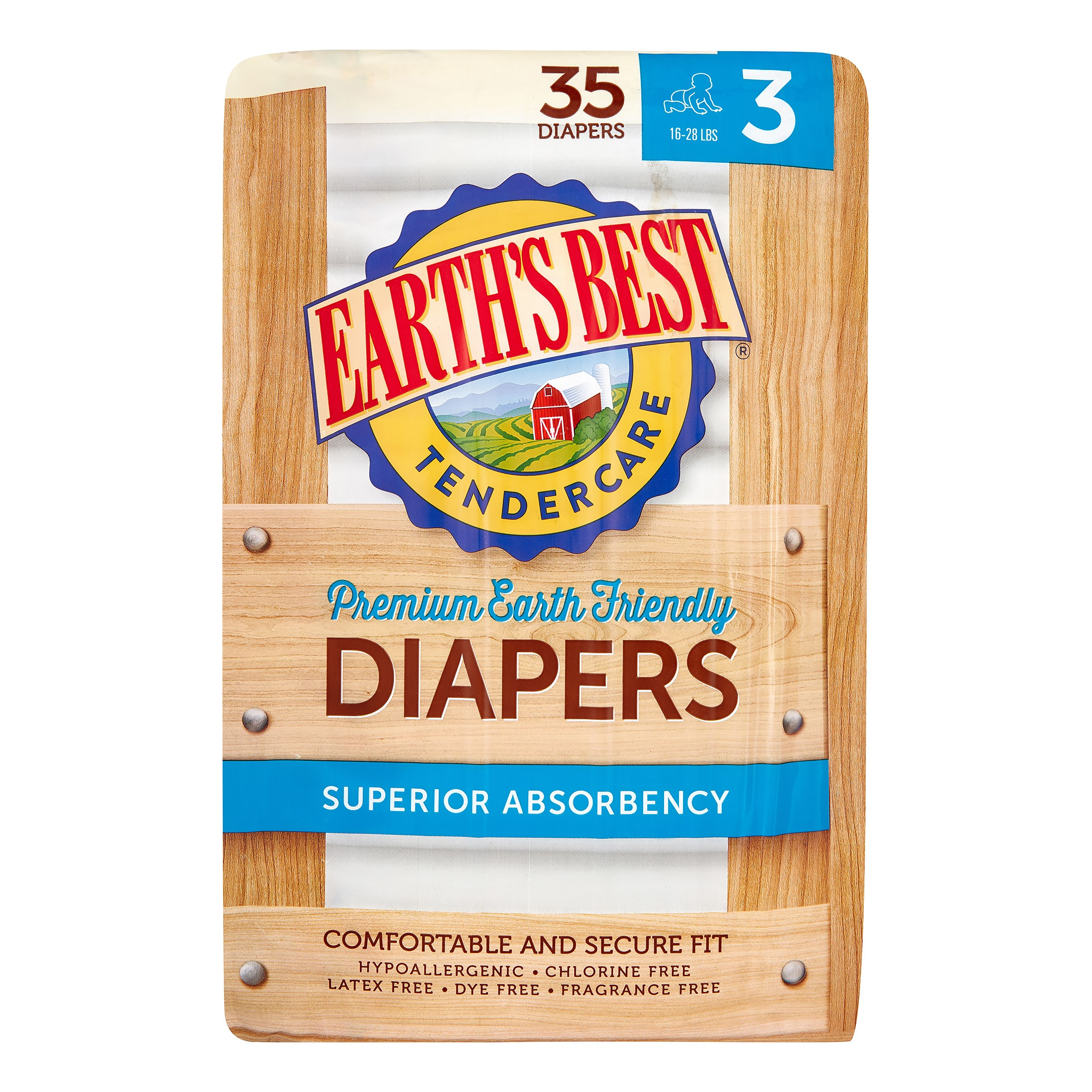 Earth's Best Premium TenderCare Diapers (Choose Size and Count)