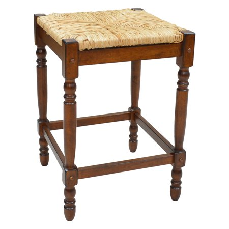 Carolina Cottage Chestnut Finish - Carolina Chair and Table Chestnut Rush Seat Counter Stool