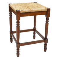 Carolina Chair and Table Chestnut Rush Seat Counter Stool