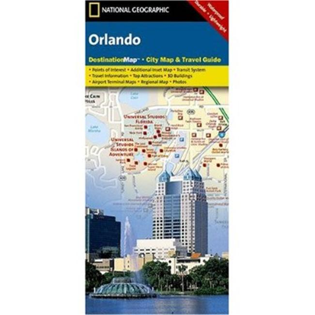 Map Of Orlando Florida.National Geographic Dc01020300 Map Of Orlando Florida