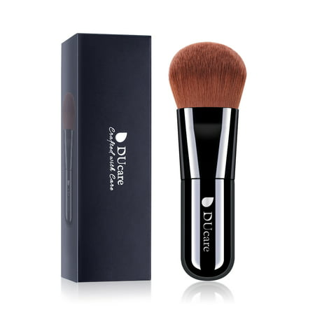 DUcare kabuki Foundation Brush Compact Flat Face Makeup Brush for Liquid Cream Buffing Mineral Cosmetics