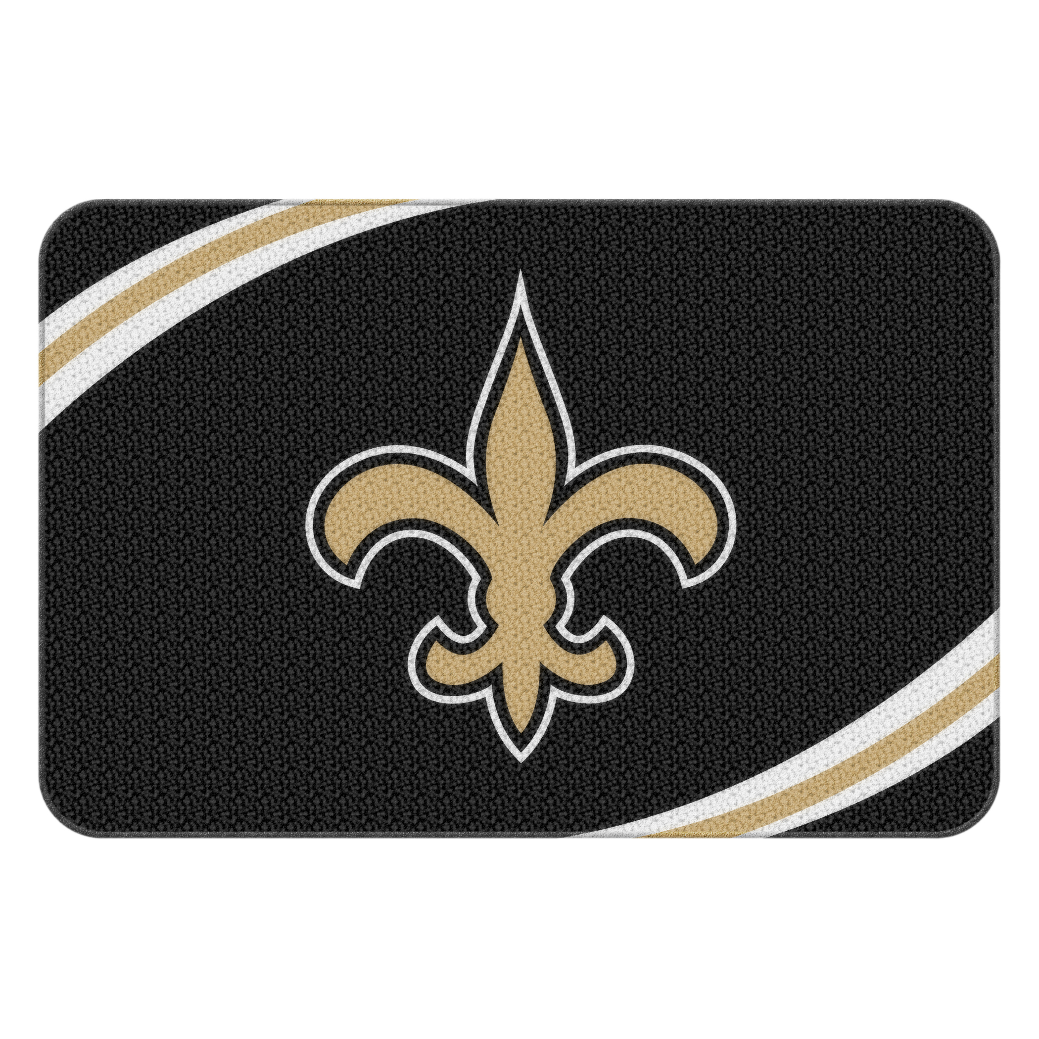 "NFL New Orleans Saints 20"" x 30"" Round Edge Bath Rug"