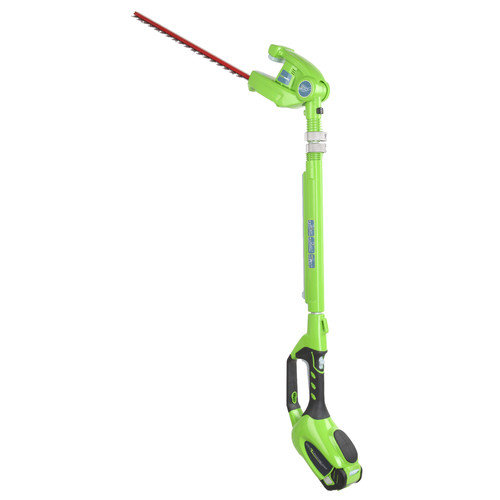 Greenworks 22142A 40V Cordless Lithium-Ion 20 in. Extended Reach Dual Action Electric Hedge Trimmer