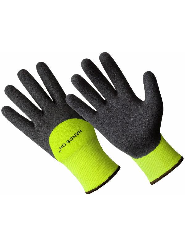 CD9455-L, Premium Lined Sandy Finish Nitrile Coated Glove