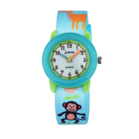 Zeiger Cute Cartoon Monkey Giraffe Nylon Weave Strap Kids Quartz Watch Boys Girls Time Teacher Wrist Watch
