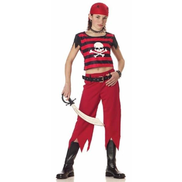 Child's Hip Punk Pirate Girl Costume by