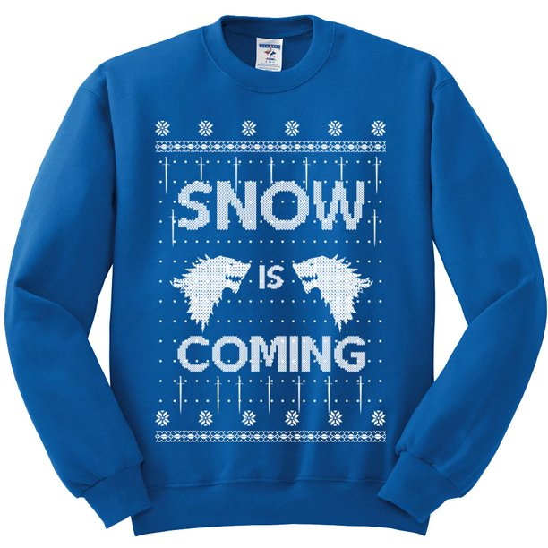 Snow Is Coming White | Unisex Ugly Christmas Sweater