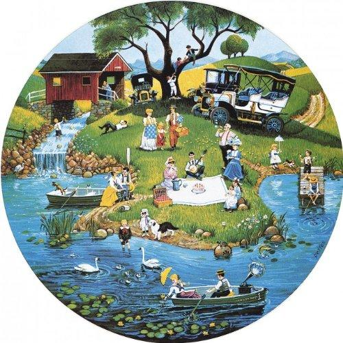 Sunsout Puzzle Company River Festival Multi-Colored