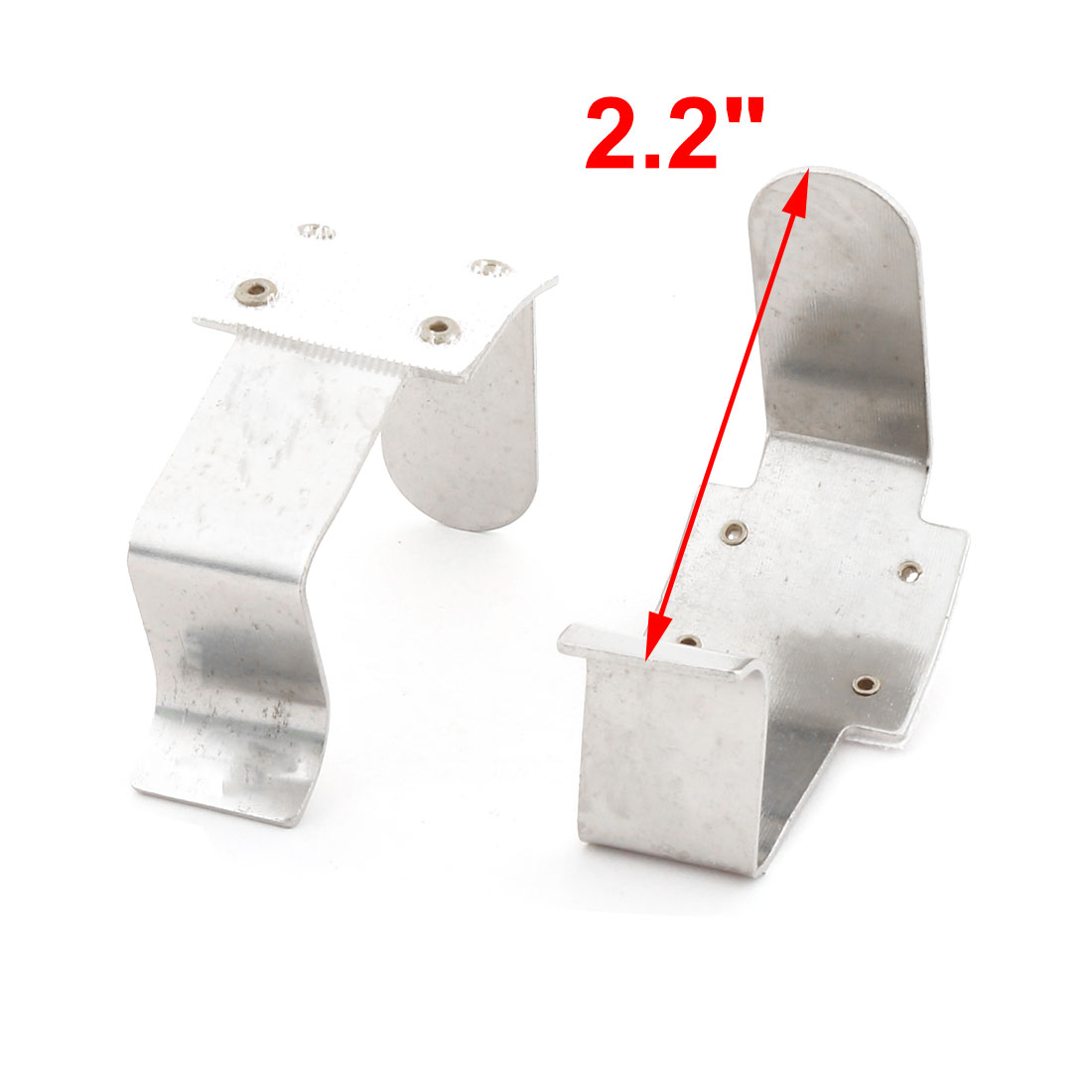 Unique Bargains Hotel Metal Tablecloth Desk Table Cover Fastener Clamp Clip Silver Tone 4 Pcs - image 1 de 3