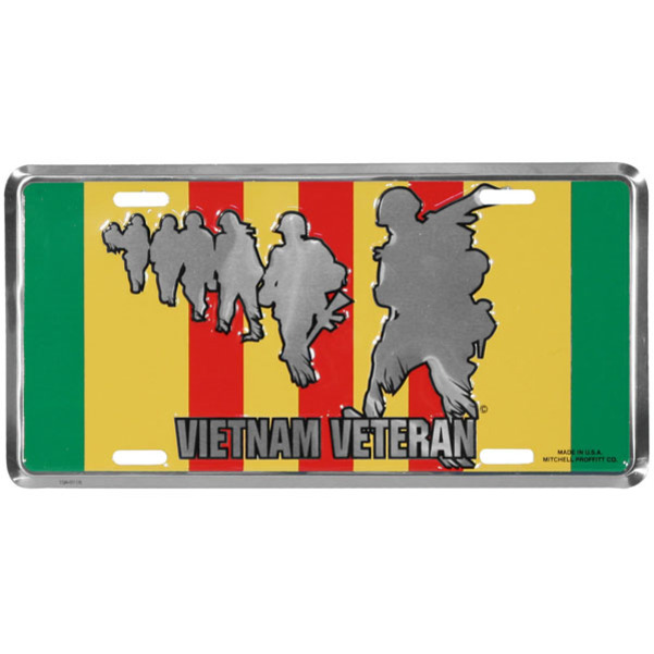 Vietnam Veteran Military Silhouette License Plate