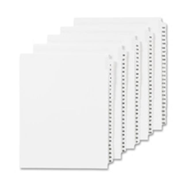 Avery AVE11921 Numeric Divider, 11, Side Tab, 11 in. x 8.5 in., 25-PK, White - image 1 of 1