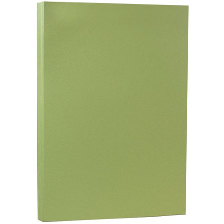 JAM PAPER Legal Matte 80lb Cardstock, 8.5 x 14 Coverstock, Olive Green, 250 Sheets/Pack