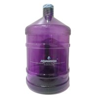 AquaNation 1 Gallon Polycarbonate Reusable Daily 8 Plastic Drinking Water Bottle Jug Container with Holder Drinking Canteen (Purple)