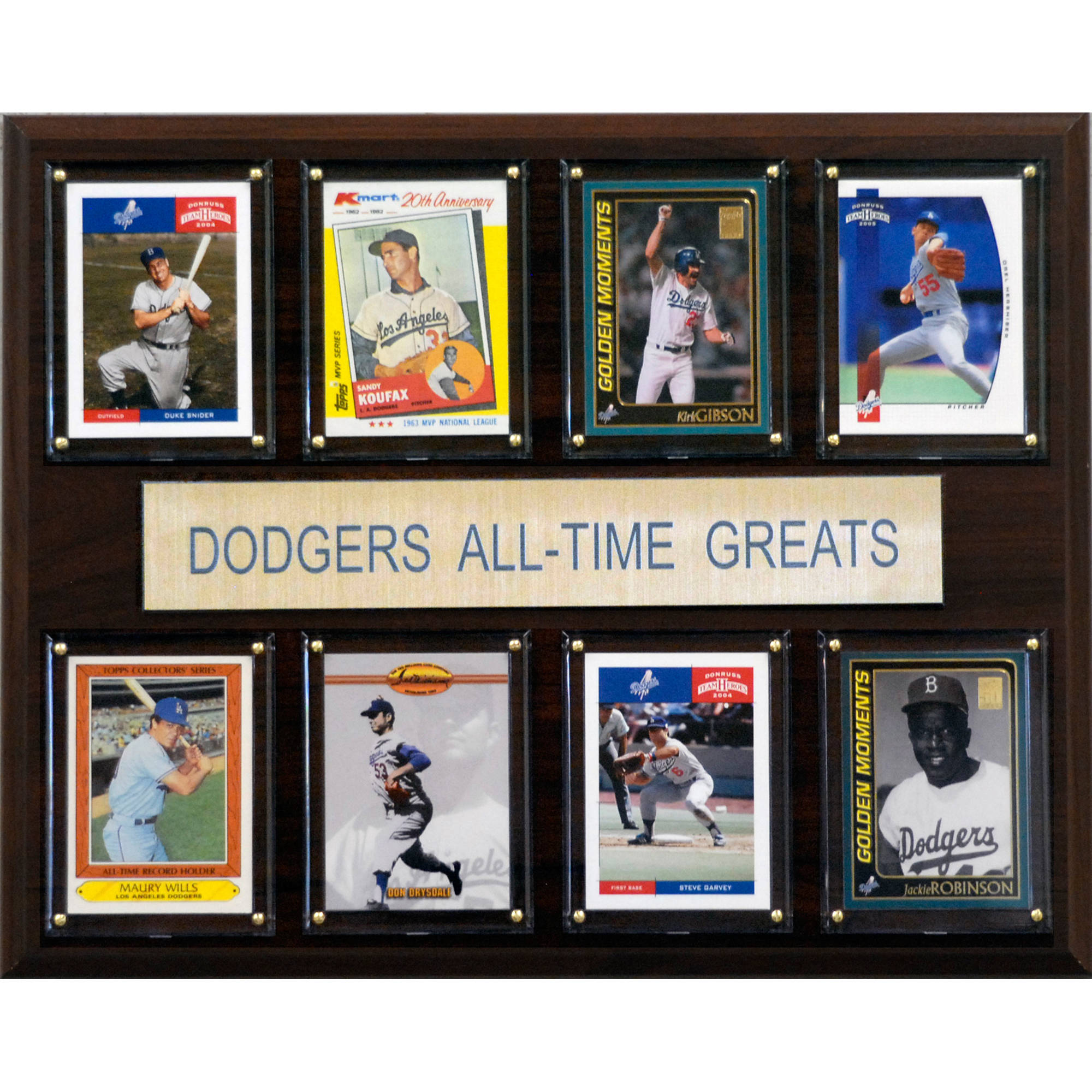 C&I Collectables MLB 12x15 Los Angeles Dodgers All-Time Greats Plaque